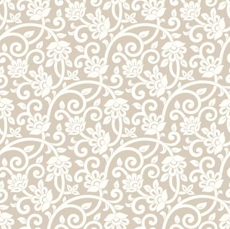 Seamless rich golden vector floral wallpaper Vector