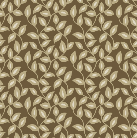Seamless vector leaves wallpaper and pattern Vector