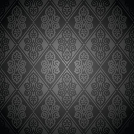 Rich seamless vector wallpaper Stock Vector - 20995669