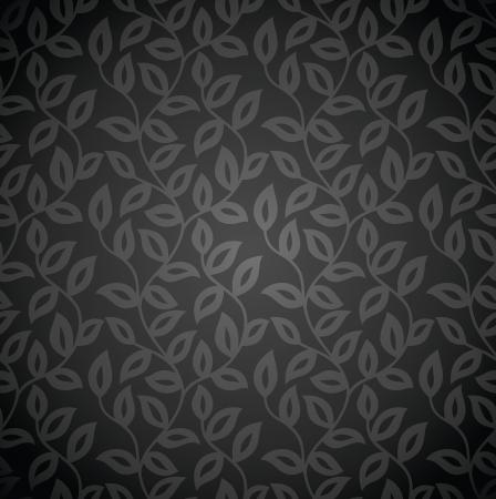 Seamless royal vector leaves wallpaper Stock Vector - 20995671