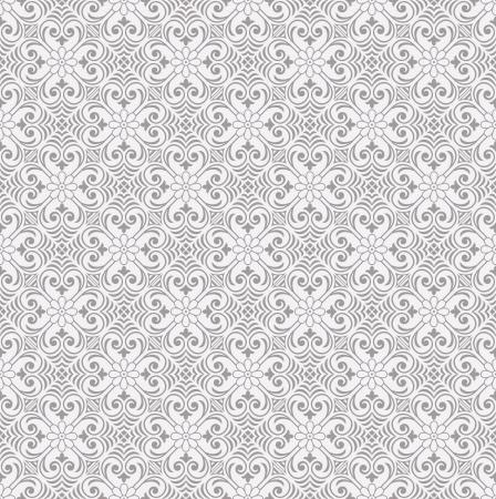 Seamless traditional silver ornamental wallpaper Vector