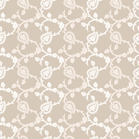 mustered: Seamless paisley background Illustration