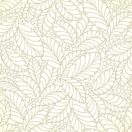 Seamless golden leaves wallpaper