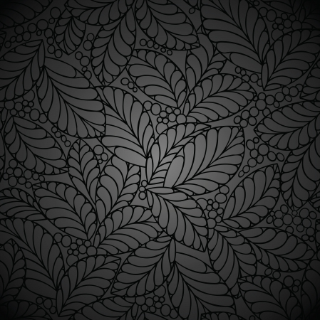 Seamless black royal wallpaper Vector