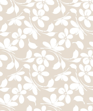 mustered: Seamless floral greeting card background