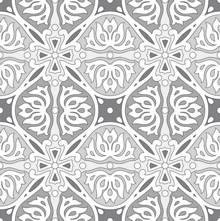 Seamless silver damask wallpaper Vettoriali