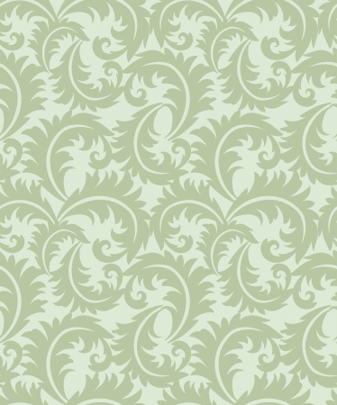 Seamless swirly leaves wallpaper Vector