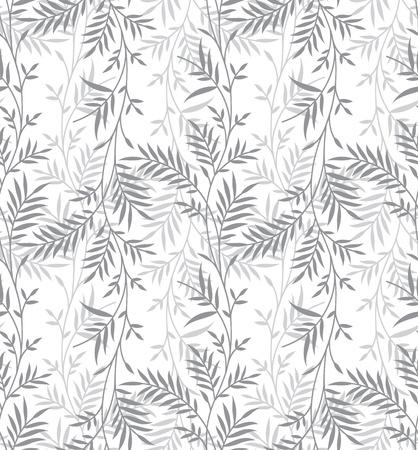 Nahtlose Phantasie Silber Blätter Hintergrund Standard-Bild - 21422080
