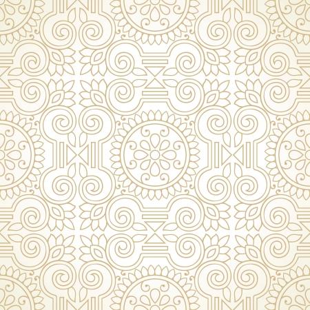 Traditional golden seamless wallpaper Vector