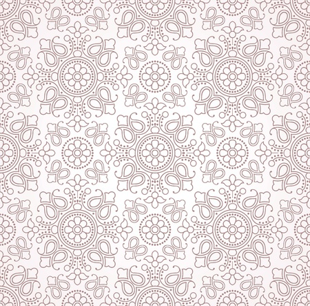 mustered: Papel tapiz tradicional paisley Vectores