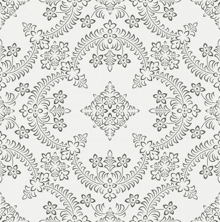 mustered: Papel tapiz floral tradicional