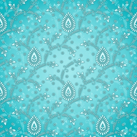 royal blue background: Seamless floral wallpaper