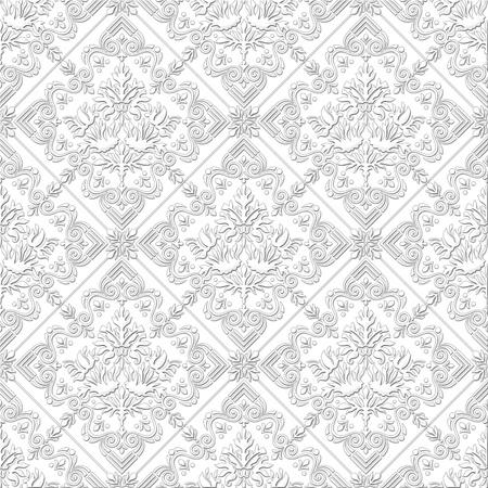 Seamless damask wallpaper Reklamní fotografie