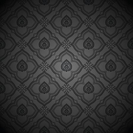 Seamless luxurious dark wallpaper Vector