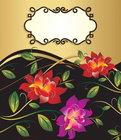 Vector floral banner Illustration
