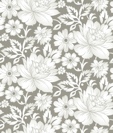Seamless floral background for textile design Vector