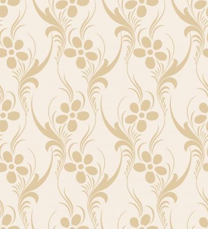 mustered: Papel pintado de flores sin fisuras