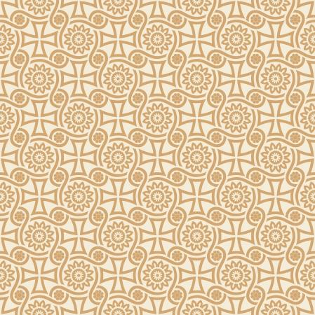 mustered: Dise�ador de vector sin fisuras papel tapiz floral