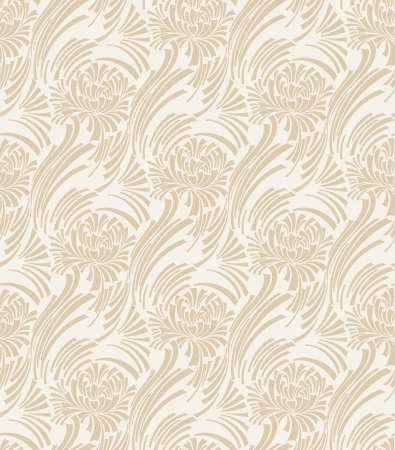 Seamless designer floral wallpaper Vector