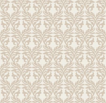mustered: Seamless golden damask wallpaper