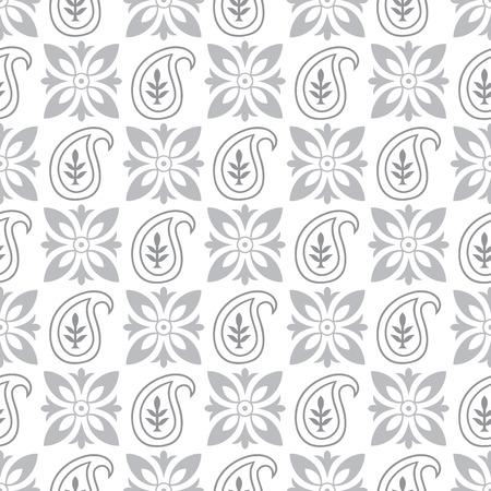 Seamless paisley pattern Иллюстрация