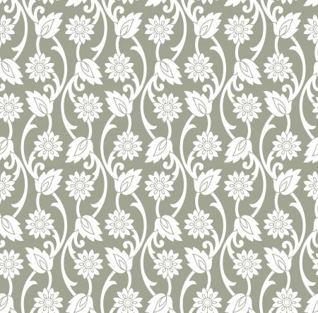 Vector floral wallpaper Vector