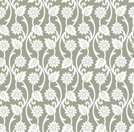 mustered: Vector floral wallpaper Illustration