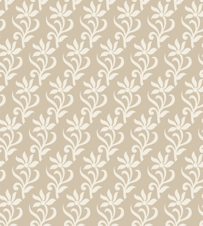 mustered: Fancy floral wallpaper
