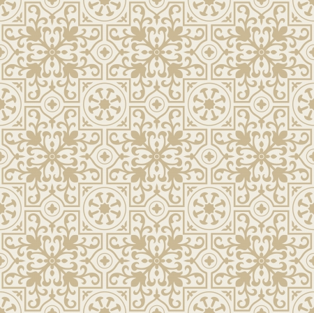 mustered: Floral seamless background