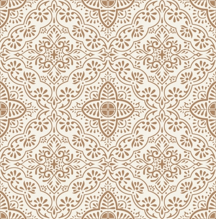 mustered: Vector traditional seamless wallpaper