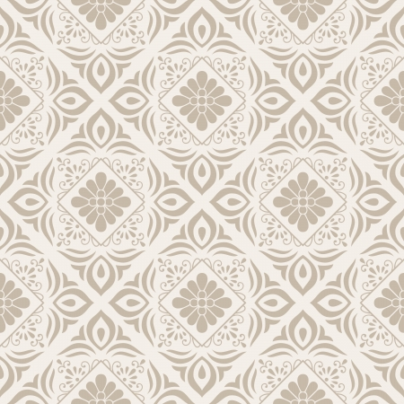 mustered: Floral seamless vector wallpaper