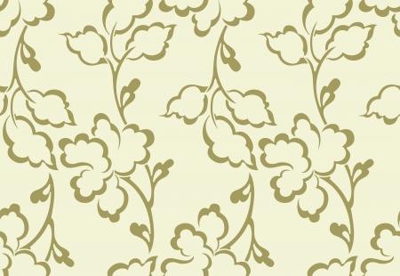 mustered: Fancy vector floral wallpaper Illustration