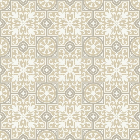 mustered: Seamless fancy flower background