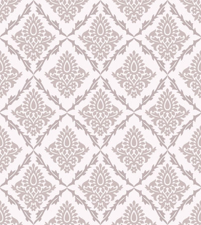 mustered: Seamless vector damask pattern