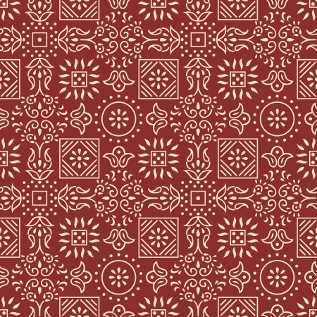 Traditional seamless vector pattern Vector