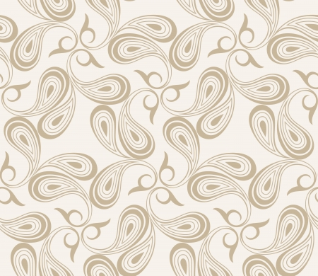 mustered: Vector seamless paisley background