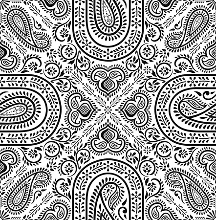 seamless background: Paisley seamless background Illustration