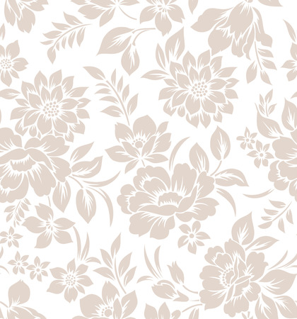 mustered: Seamless floral curtain design