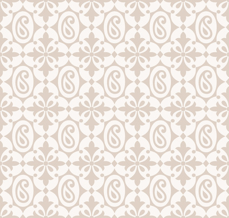 mustered: Seamless paisley background with flowers