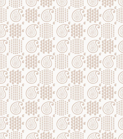 mustered: Fancy paisley background Illustration