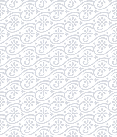 mustered: Seamless damask floral pattern