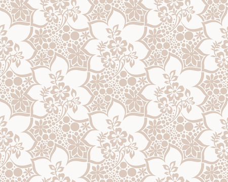 Seamless vector luxurious floral wallpaper Stock Vector - 25997330
