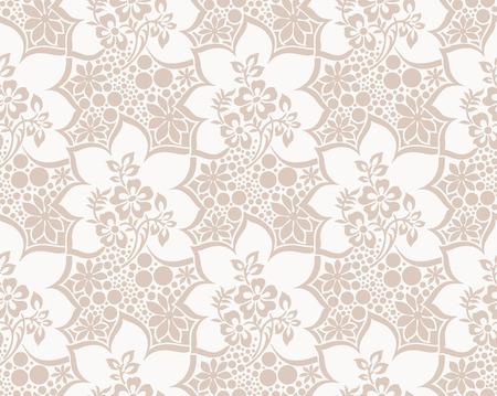 Seamless vector luxurious floral wallpaper Stock Vector - 25997330