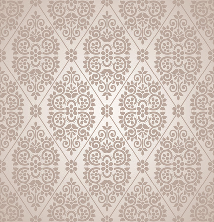 mustered: Seamless floral damask background