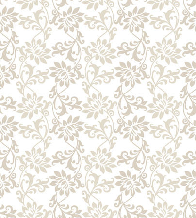 mustered: Fancy floral seamless vector wallpaper