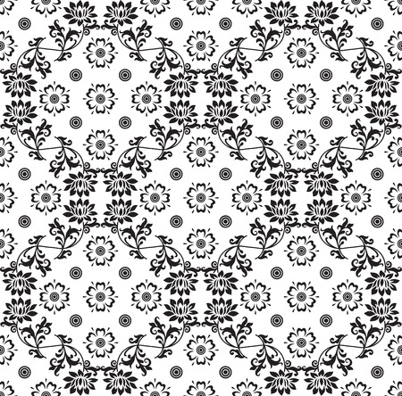Floral damask wallpaper Stock Vector - 25997421