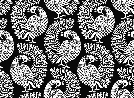 Seamless vector peacock design Vector