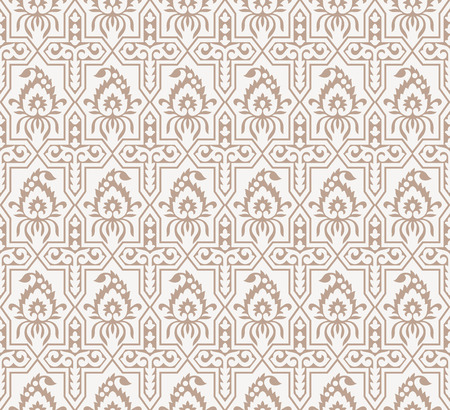 mustered: Seamless fancy paisley wallpaper