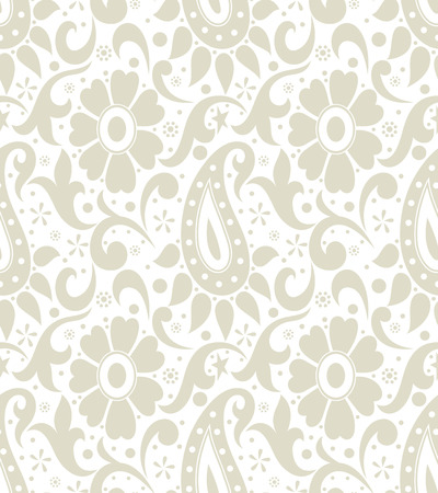 mustered: Paisley with flowers Illustration