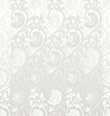 mustered: Fancy seamless floral wallpaper